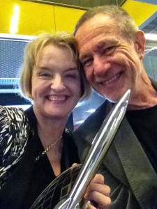 With the Hugo Award - LONCON 2014