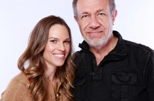 Hilary Swank and Stefan at a photo shoot at Skyboat Media Studios