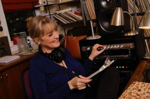 Gabrielle at the controls in Skyboat's Studio A