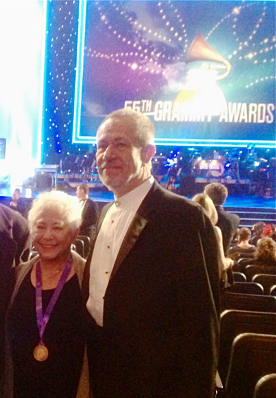 Janis Ian and Stefan on Grammy Night 2013. Winners for Best Spoken Word Category.