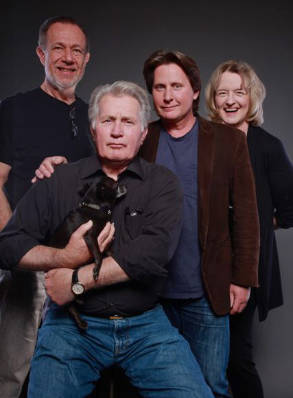 During the recording of ALONG THE WAY for Audible.com with Martin Sheen, Emilio Estevez, Stefan Rudnicki and a Pooch.