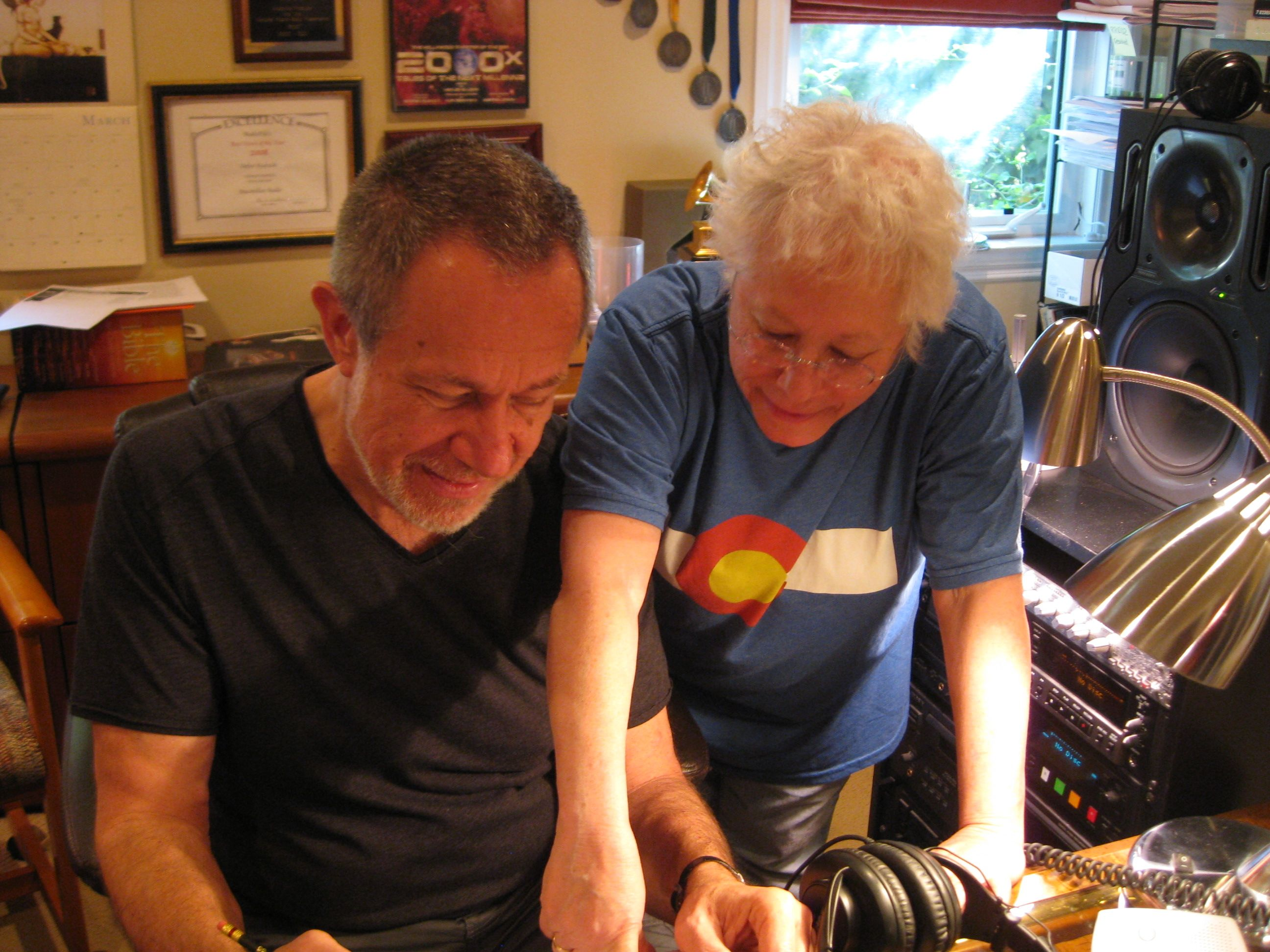 Stefan and Janis in the Studio.