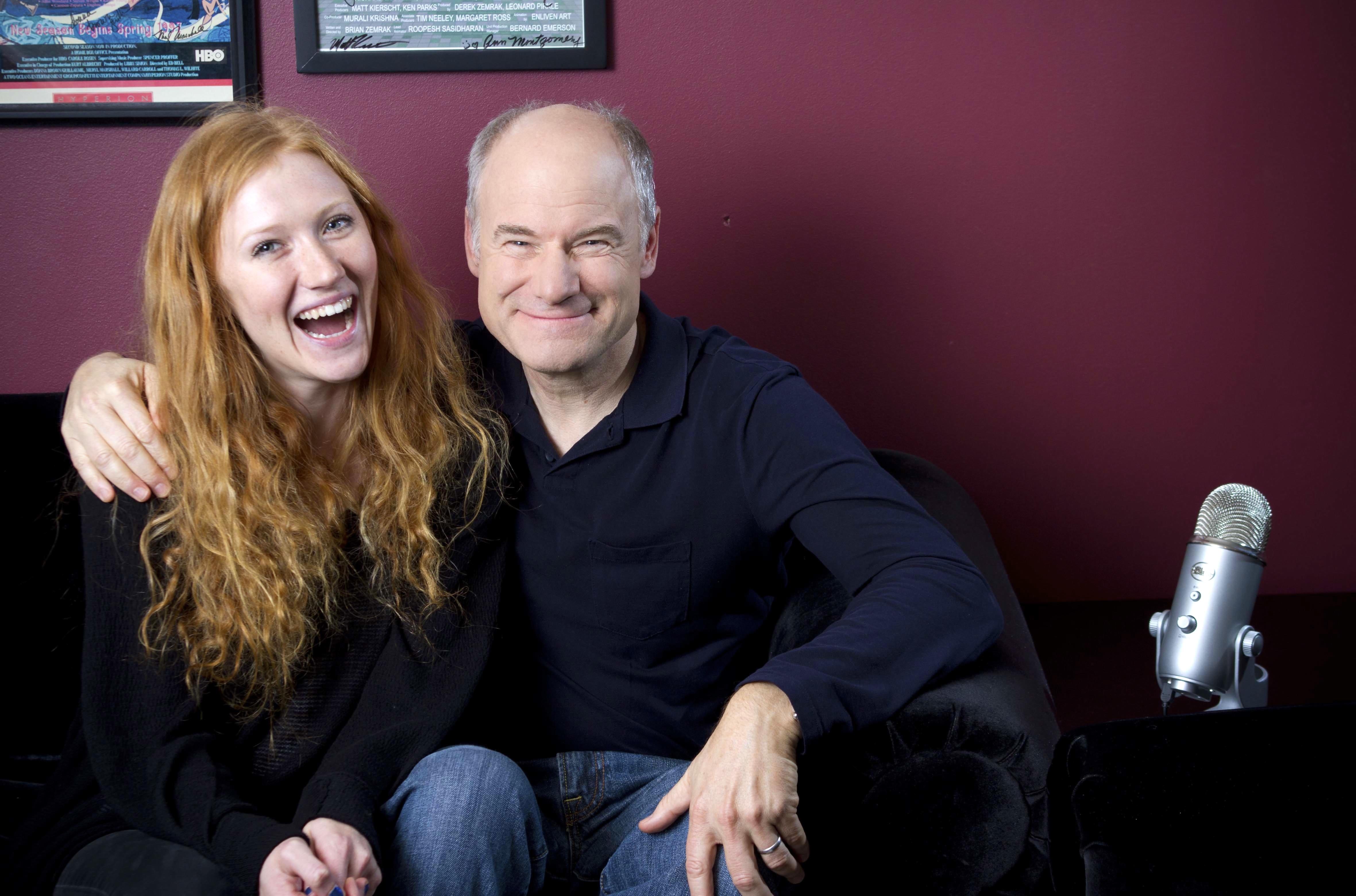 """Taylor and Jim Meskimen on """"set"""" of EGA"""