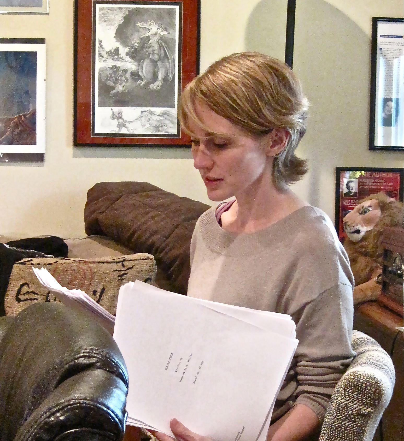 Emily directing audio of Laddertop