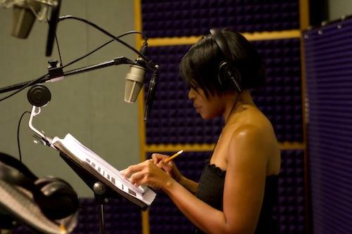 Lisa at work in the studio.
