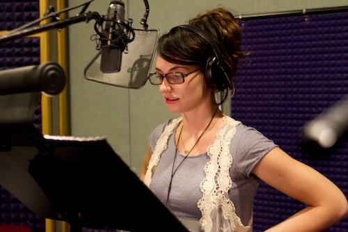 Kelly in the studio.