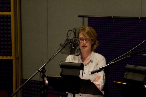 Emily in the studio as Bean.