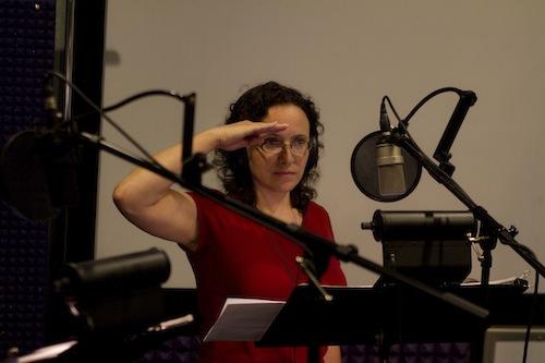 Karyn in the studio.