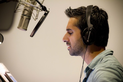 Vikas Adam in the booth.