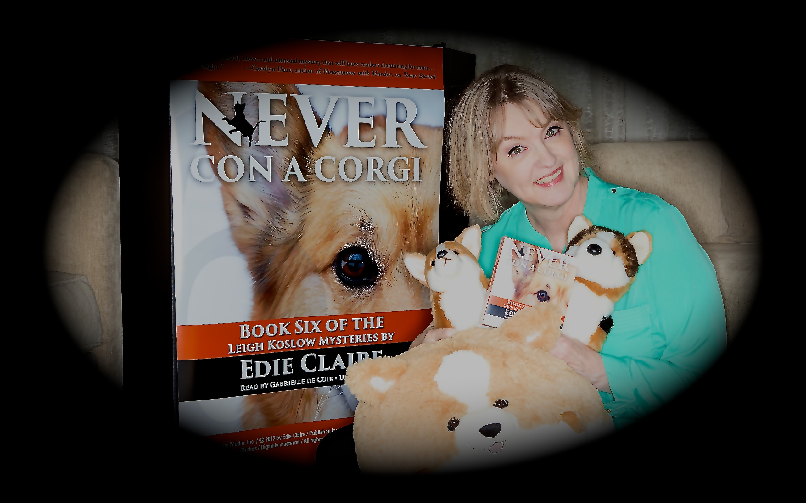 Gabrielle with her Corgi Collection!