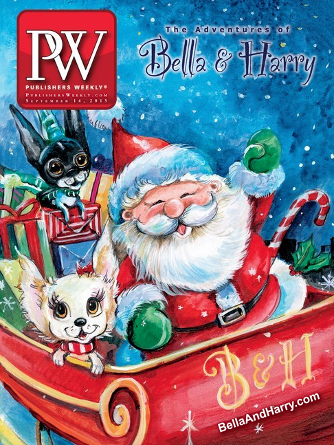 On the cover of Publishers Weekly (with Santa!)