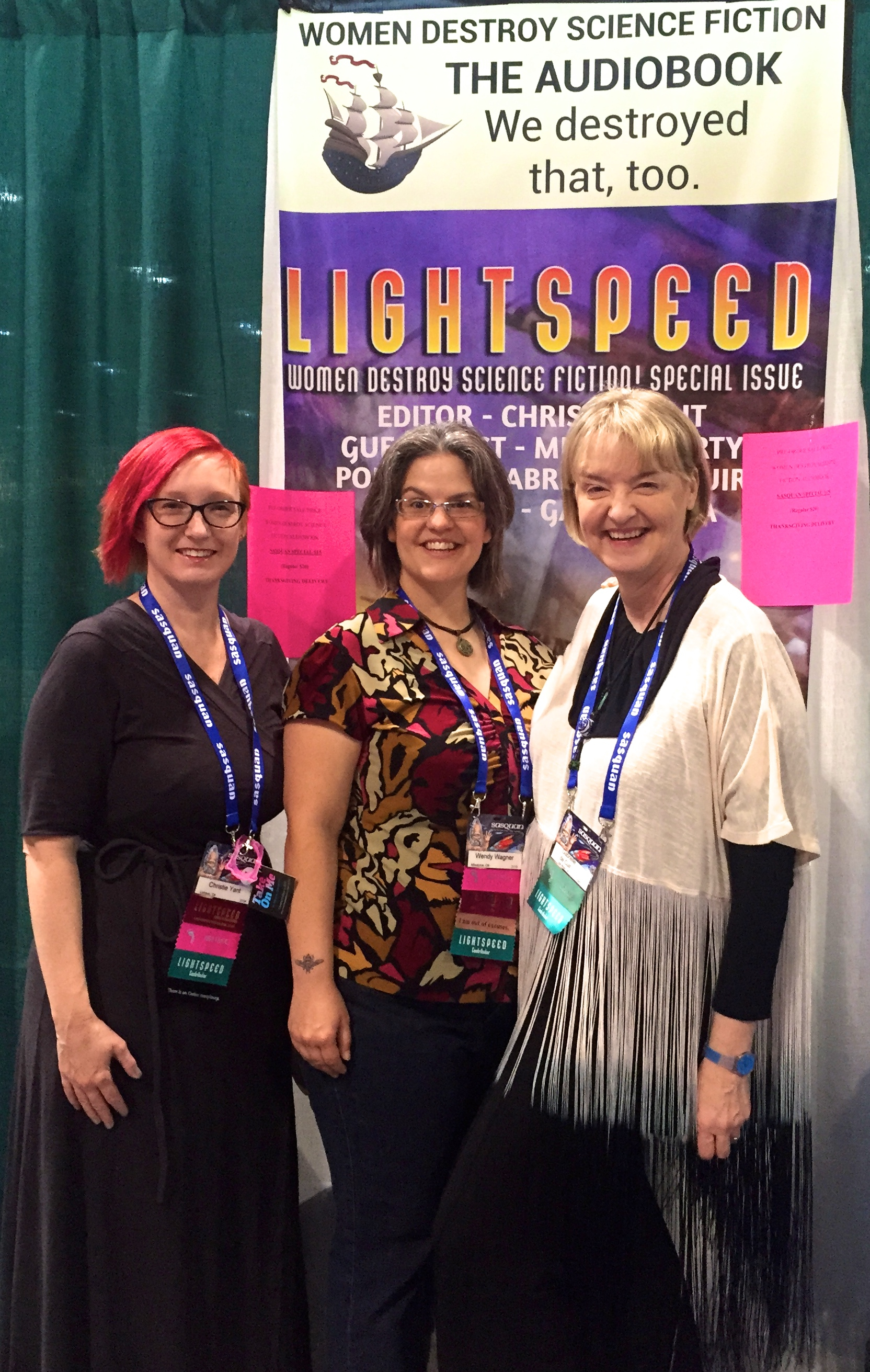 Christie Yant, Wendy Wagner and GdC at Booth